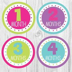printable  month  sign baby   month