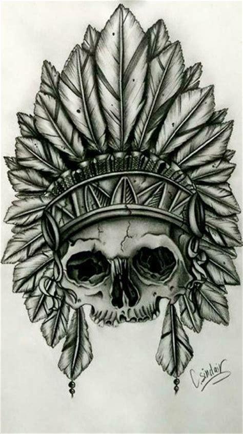 skull in headdress priest aztec on shoulder best 25 indian design ideas on