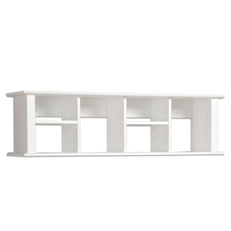 prepac sonoma white 48 inch wall mounted desk hutch beyond stores