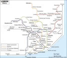 Lisbon Subway Map by Lisbon Metro Map Maps Pinterest
