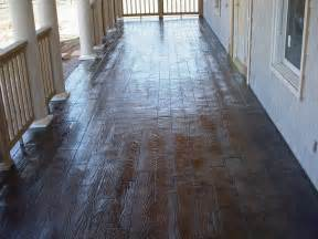 wood plank stamped stained concrete porch traditional porch oklahoma city by advanced