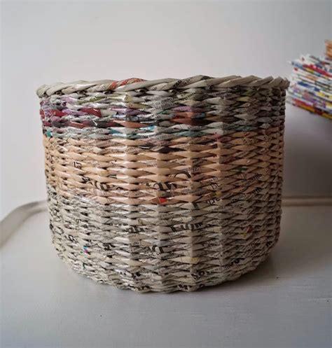 como hacer cestas de papel de periodico c 243 mo hacer cestas con peri 243 dicos pequeocio