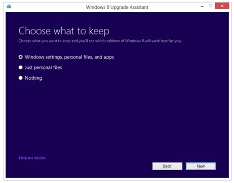 how to choose windows upgrade windows 7 vista or xp to windows 8 pro