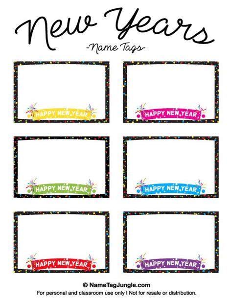 new year place cards templates 1000 ideas about kindergarten name tags on