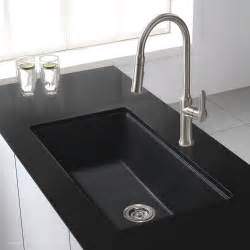 Black Kitchen Sink Undermount Granite Kitchen Sinks Kraususa