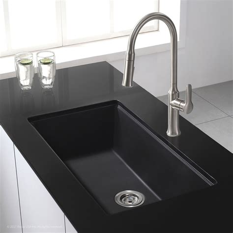 black single bowl kitchen sink granite kitchen sinks kraususa com