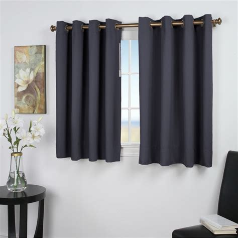 45 curtain panels ultimate blackout 45 inch length grommet curtain panel