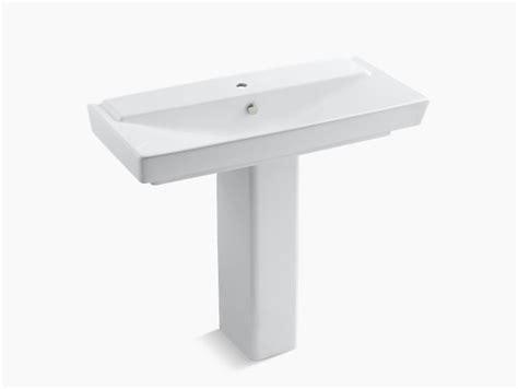 kohler reve pedestal sink r 234 ve 39 inch sink basin and pedestal with single k