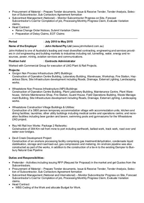 Contract Administration Description by Contract Administrator Description Contract Management Part 2 Contract Administrator