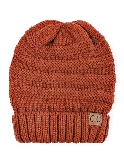 Beanie Hat Orange Knitting Krem rust orange slouchy knit cc beanie hat