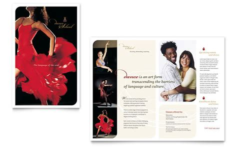 dance school brochure template word publisher