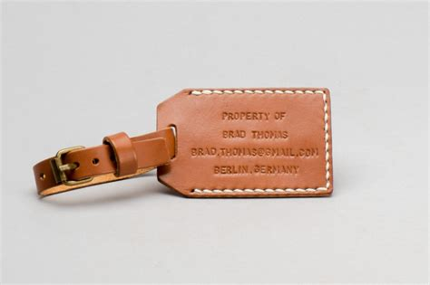 Leather Tag personalized leather luggage tag holycool net