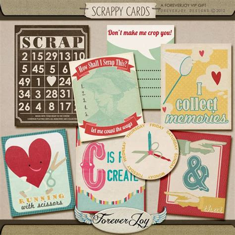 printable joy journal printable scrappy cards journal cards from forever joy
