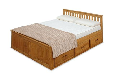 double beds with storage 4ft small double captains bed