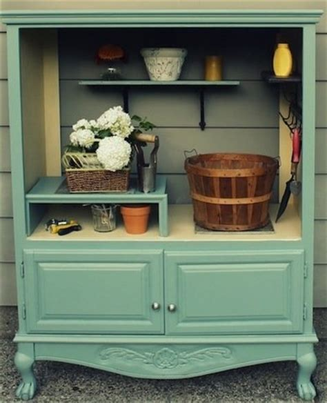 13 creative ways to repurpose old chairs repurposed garden shelf repurposing armoires armoire diy projects