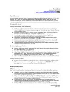 Resume Sle With Summary 28 Summary Part Of Resume 10 Brief Guide To Resume Summary Writing Resume Sle Professional