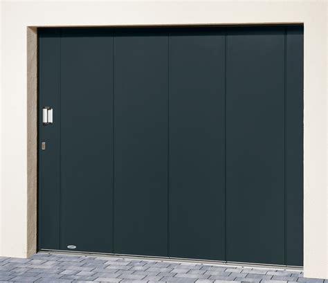 porte de garage laterale novoside panneau sans nervures