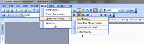 Mail Merge Using Word And Excel 2003 Excel Mail Merge Template