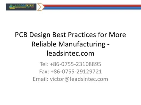 design for manufacturing best practices pcb design best practices for more reliable manufacturing