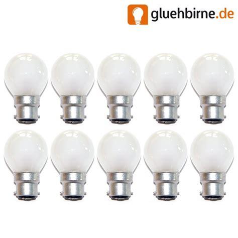 glühbirnen matt 10 x tropfen kugel gl 252 hbirne b22 b22d 25w 25 watt matt gl 252 b