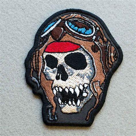 design biker helmet biker patch skull in a helmet