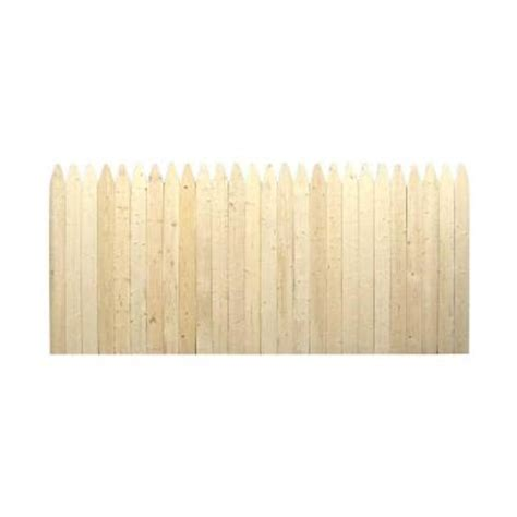 picket fence sections home depot 3 5 ft h x 8 ft w natural 4 in gothic stockade fence