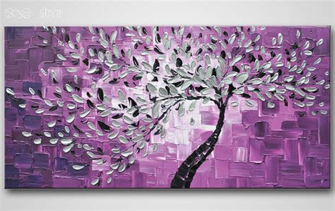 hand painted home decor abstract art tree oil painting high quality hand painted