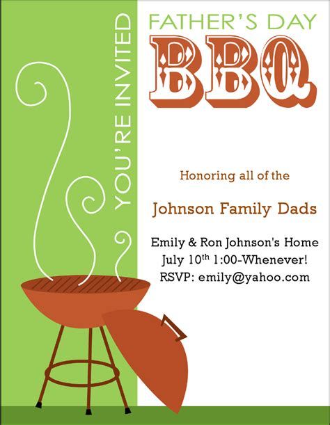 Religious S Day Card Template by Exle S Day Bbq Invitation Card Idea With
