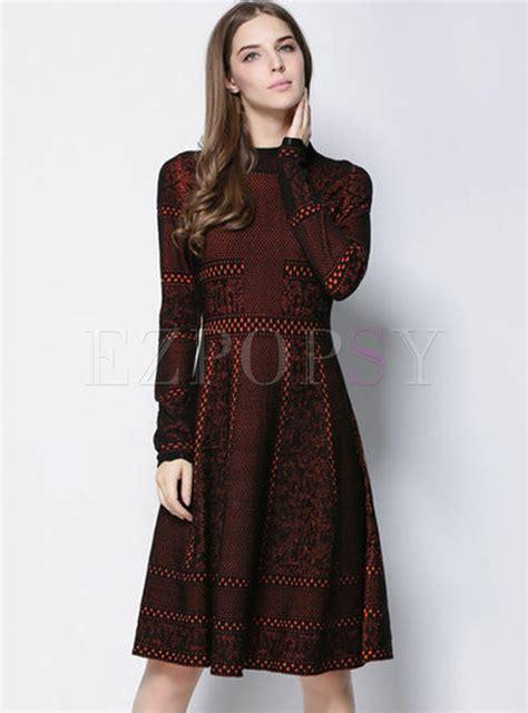 A Line Knit Dress vintage slim a line knit dress ezpopsy