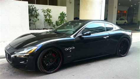 Black On Black Maserati by Black Maserati Granturismo Black Rims Lip