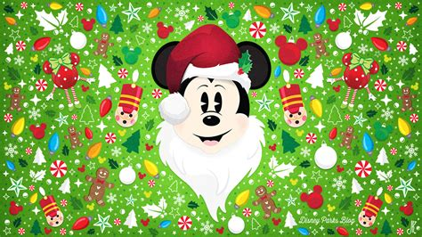 wallpaper de natal disney celebrate the season with our santa mickey wallpaper
