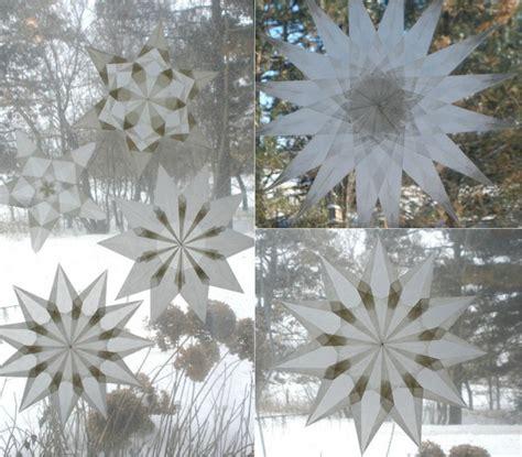 Weihnachtsdeko Am Fenster Befestigen by Weihnachtsdeko F 252 R Fenster Sterne Aus Transparentpapier