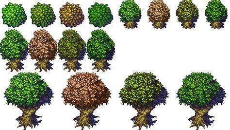 tree variations  jetrels wood tileset opengameartorg