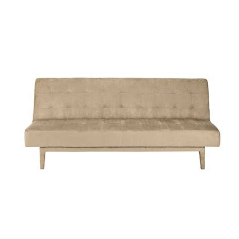 sofa bed studio taupe 3 seater tufted clic clac sofa bed studio maisons