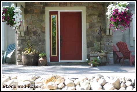 First Rate Summer Front Door Decor Red Painted Front Door Summer Front Door Decor