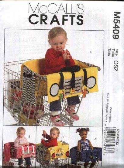 visitor pattern shopping cart mccall s sewing pattern 5409 baby infant child grocery