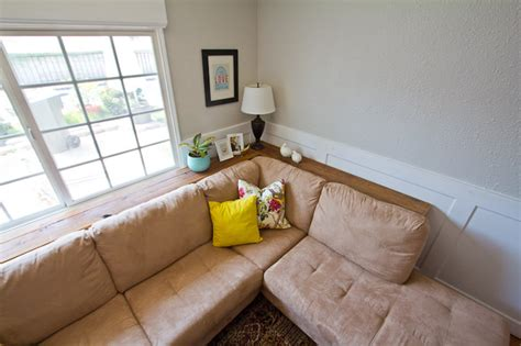 space behind couch diy console table