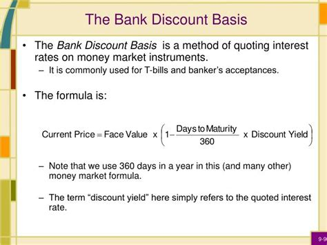 bank discount ppt interest rates powerpoint presentation id 6681440