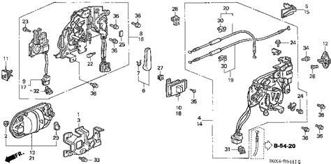 honda odyssey sliding door parts diagram honda store 2000 odyssey slide door locks 2 parts