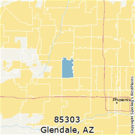 zip code map glendale az best places to live in glendale zip 85303 arizona