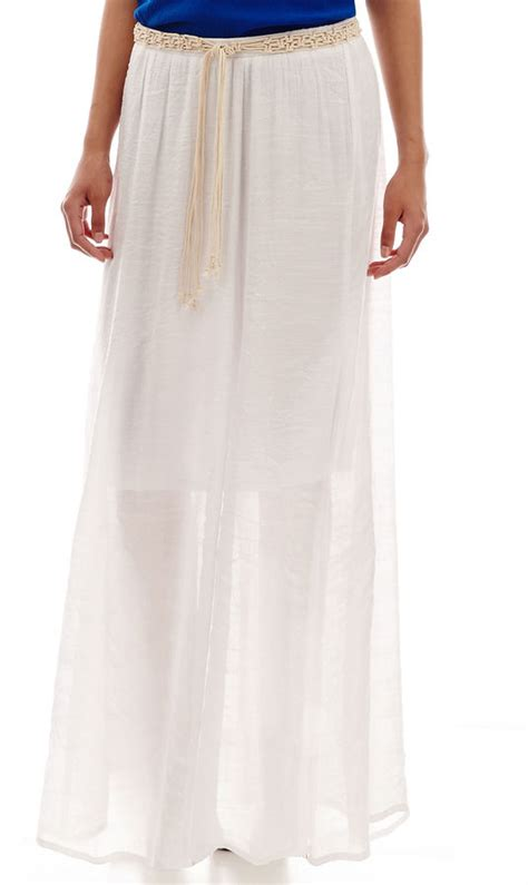 jcpenney alyx belted maxi skirt shopstyle
