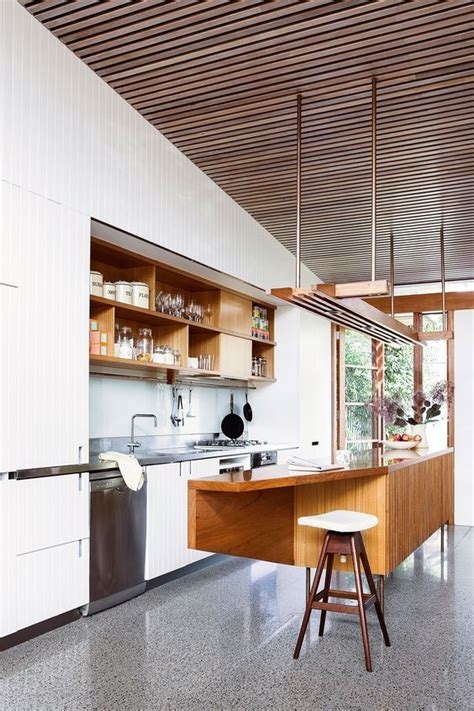 The Kitchen Bench Virginia Timber Ceiling Polished Concrete And Concrete Floors On