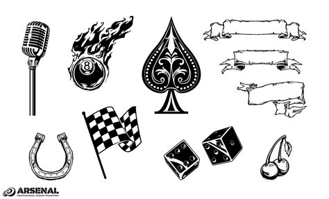 rockabilly tattoos designs rockabilly icons vector pack by go media s arsenal