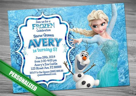 frozen birthday card template 25 best ideas about disney frozen invitations on