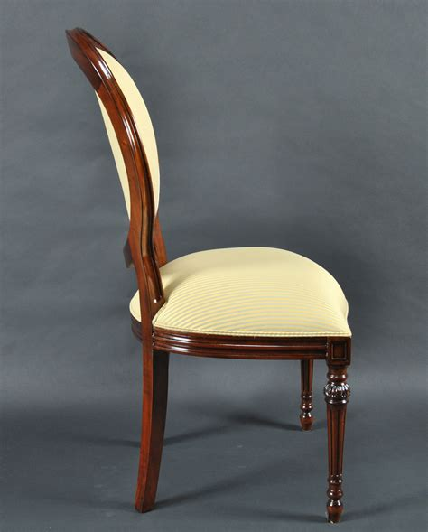 upholstered oval back dining room chairs set of 8 upholstered oval back mahogany wood classic