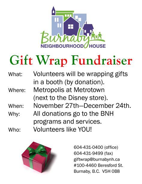gift flyer burnaby neighbourhood house volunteers needed for gift