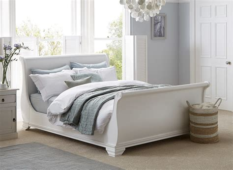White Bed by Orleans White Wooden Bed Frame Dreams