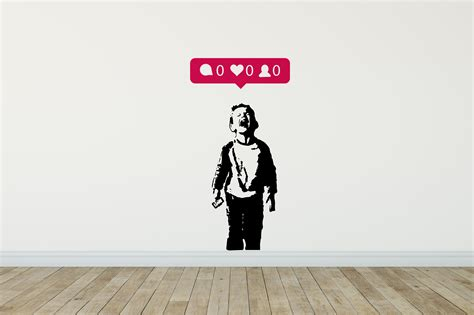 wall stickers banksy iheart nobody likes me wall sticker banksy wall stickers 40 colours