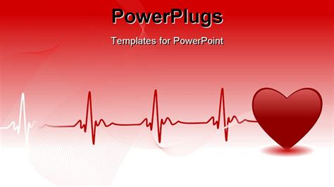powerpoint design heart editable vector background with space for your text