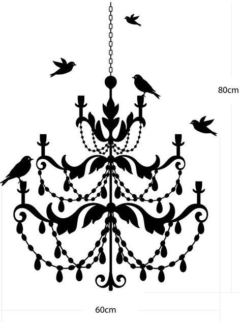 chandelier wall stickers chandelier wall sticker by nutmeg notonthehighstreet